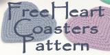 Free Heart Coasters Pattern