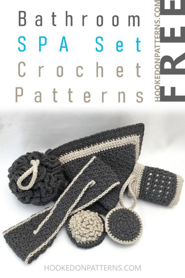 Bathroom Set free crochet pattern - Free Spa Crochet Patterns